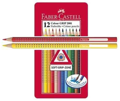 LÁPICES FABER CASTELL GRIP 2001  Box 12 Colores