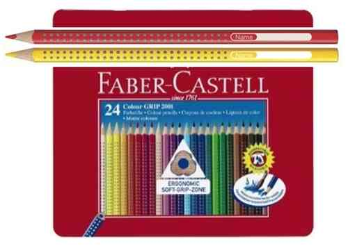 LÁPICES FABER CASTELL GRIP 2001  Box 24 Colores