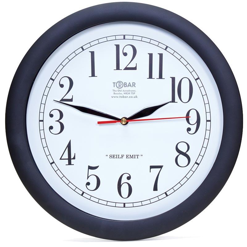 Reloj cuarzo de pared tobar para personas zurdas - Relojes de pared clasicos ...
