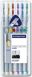 STAEDTLER® triplus® gel-liner decor  Box 6 colores